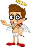Geek Cupid Character Royalty Free Stock Photos