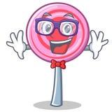 Geek cute lollipop character cartoon. Vector illustration Stock Images