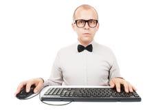 Geek del computer Fotografia Stock