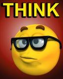 Geek denkt 3 Stock Afbeeldingen