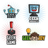 Geek design, identity concept, vector illustration Royalty Free Stock Photos