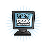 Geek design, identity concept, vector illustration Stock Images