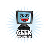 Geek design, identity concept, vector illustration Royalty Free Stock Photo