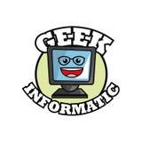Geek design, identity concept, vector illustration Royalty Free Stock Photos
