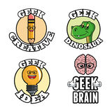 Geek design, identity concept, vector illustration Stock Photo