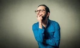 Geek divertente con i vetri fotografia stock