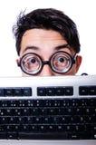 Geek divertente del computer Immagine Stock Libera da Diritti