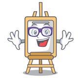 Geek easel character cartoon style. Vector illustration stock illustration
