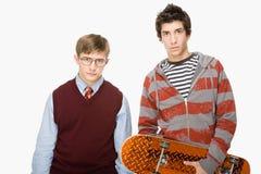 Geek en schaatser royalty-vrije stock foto