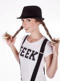 Geek felice Fotografie Stock Libere da Diritti