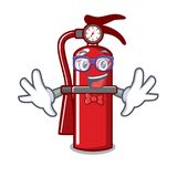 Geek fire extinguisher character cartoon. Vector illustration Royalty Free Stock Photo