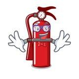 Geek fire extinguisher character cartoon. Vector illustration stock illustration