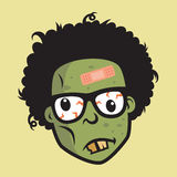 Geek Funny Zombie Head Character Design Royalty Free Stock Images