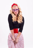 Geek girl Royalty Free Stock Photography