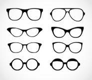 Geek glasses set illustration on a white background Royalty Free Stock Photos