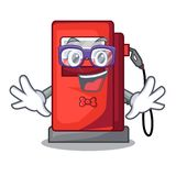 Geek gosoline pump isolated in the mascot. Vector illustration royalty free illustration