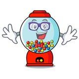 Geek gumball machine character cartoon. Vector illustration vector illustration