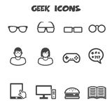 Geek icons. Mono vector symbols vector illustration