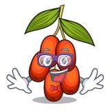 Geek jujube fruit isolated with the cartoon. Vector illustration stock illustration