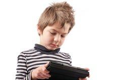 Geek kid addicted Royalty Free Stock Photos