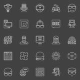 Geek line vector icons Stock Photos