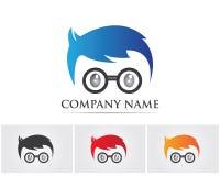 Geek Logo,Vector Logo template.. Geek Logo,Vector Logo template stock illustration