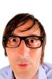 Geek man stock photography