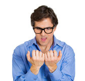 Geek man Stock Image