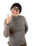 Geek man Royalty Free Stock Photo