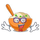 Geek mashed potato isolated with the cartoon. Vector illustration vector illustration
