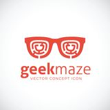 Geek Maze Vector Concept Symbol Icon Royaltyfria Foton