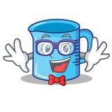 Geek measuring cup character cartoon. Vector illustartion royalty free illustration