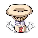 Geek milk mushroom character cartoon. Vector illustration royalty free illustration