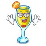 Geek mimosa character cartoon style. Vector illustration vector illustration