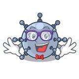 Geek mine underwater in the cartoon shape. Vector illustration royalty free illustration