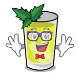 Geek mint julep character cartoon. Vector ilustration royalty free illustration