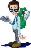Geek/Nerd. A cartoon of a typical techno nerd/geek vector illustration