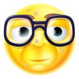 Geek of Nerd Emoticon stock illustratie