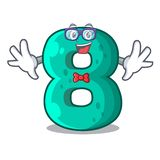 Geek number house eight the shaped character. Vector illustration royalty free illustration