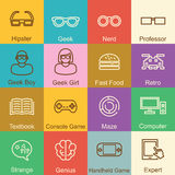 Geek outline design Royalty Free Stock Photo