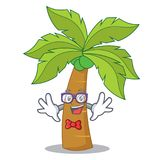 Geek palm tree character cartoon Stock Images