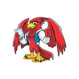 A GEEK PHOENIX BIRD AS MASCOT Stock Photography