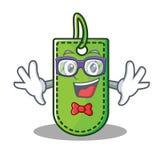 Geek price tag character cartoon. Vector illustration vector illustration