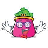 Geek purse character cartoon style. Vector illustration Royalty Free Stock Photo