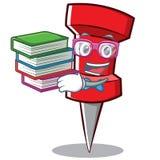 Geek red pin character cartoon. Vector illustration stock illustration