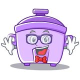Geek rice cooker character cartoon Stock Photography
