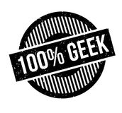 100 Geek rubber stamp. Grunge design with dust scratches. Effects can be easily removed for a clean, crisp look. Color is easily changed Stock Illustration