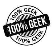100 Geek rubber stamp. Grunge design with dust scratches. Effects can be easily removed for a clean, crisp look. Color is easily changed Vector Illustration