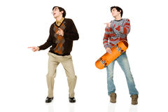 Geek and skater Stock Photography