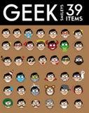 Geek Smileys Stock Images
